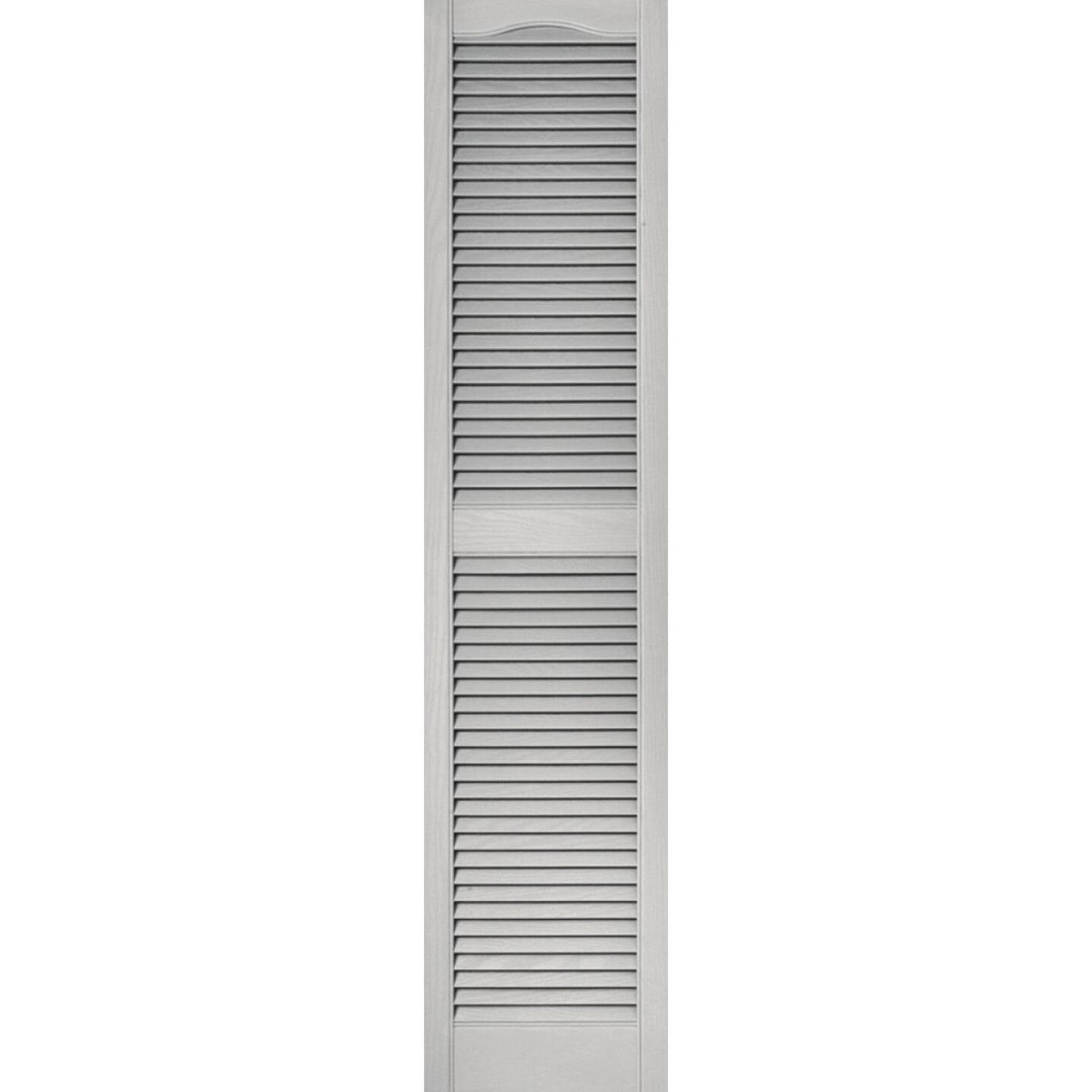 Builders Edge 15 In. x 64 In. Vinyl Louvered Shutter, (2-Pack) Image 1