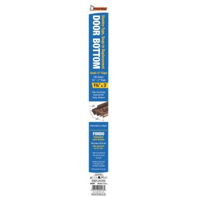 Frost King 1.75 In. W. x 0.50 In. H. x 36 In. L. Brown Vinyl Door Bottom For Stanley Door