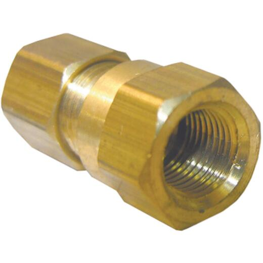 Lasco 1/4 In. C x 1/8 In. FPT Brass Compression Adapter