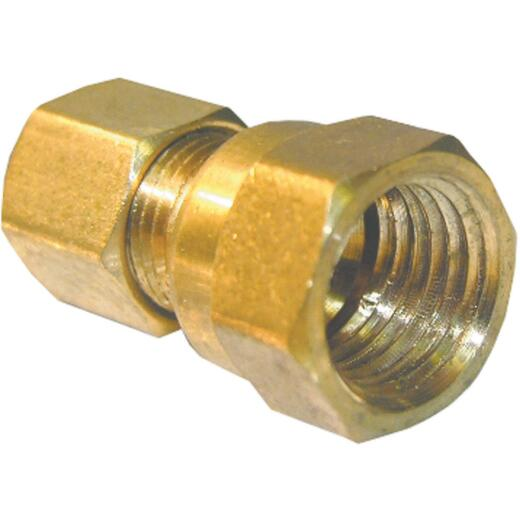 Lasco 1/4 In. C x 1/4 In. FPT Brass Compression Adapter