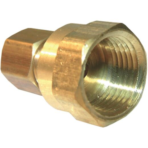 Lasco 1/4 In. C x 3/8 In. FPT Brass Compression Adapter