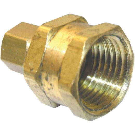 Lasco 1/4 In. C x 1/2 In. FPT Brass Compression Adapter