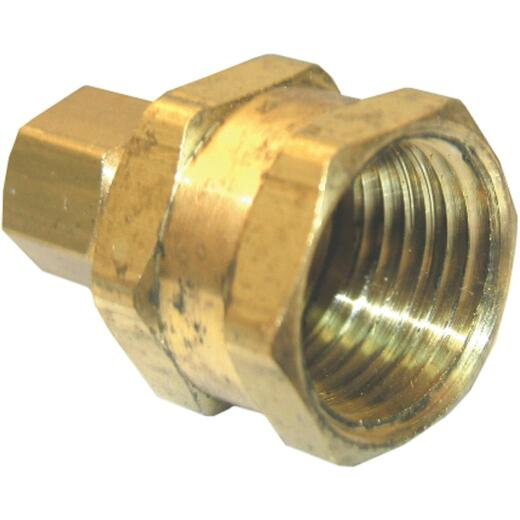 Lasco 5/16 In. C x 1/4 In. FPT Brass Compression Adapter