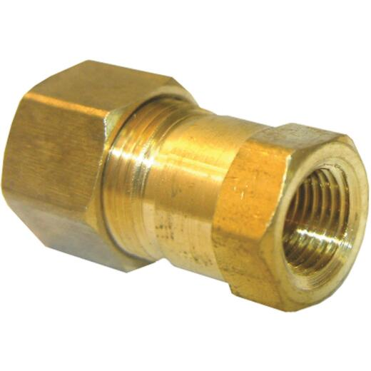 Lasco 3/8 In. C x 1/4 In. FPT Brass Compression Adapter