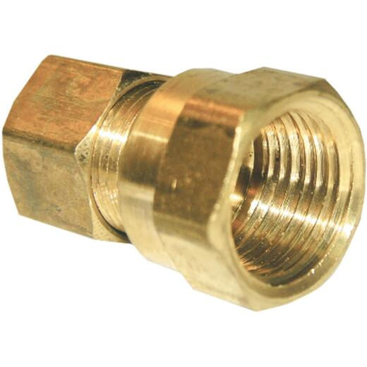 Lasco 3/8 In. C x 3/8 In. FPT Brass Compression Adapter