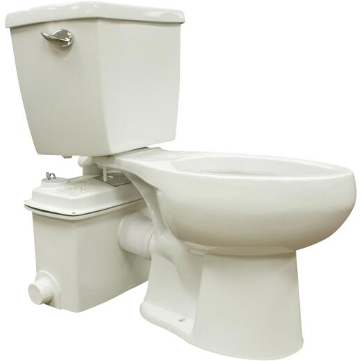 Star Water Systems White Elongated Bowl 1.28 GPF Upflush Toilet