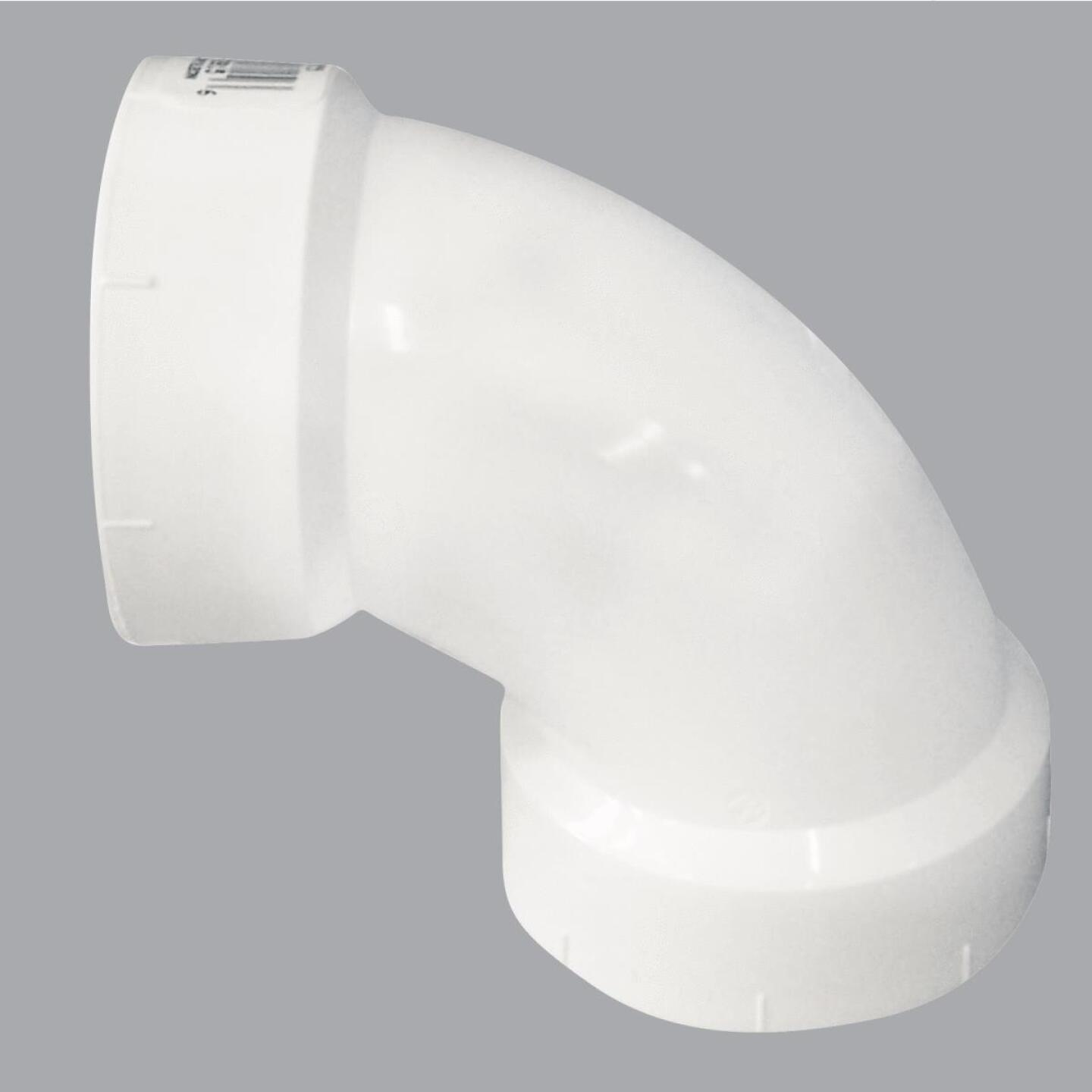 Charlotte Pipe 4 In. 90D Sanitary PVC Elbow Image 1