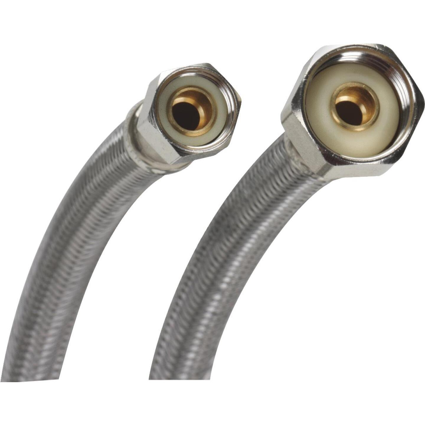 Fluidmaster 3/8 F X 1/2 In. F X 16 In. L Stainless Steel Faucet Connector Image 1