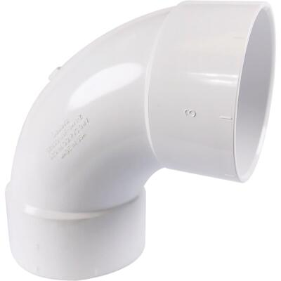 Charlotte Pipe 3 In. 90D Sanitary PVC Elbow