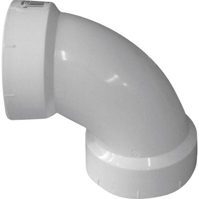 Charlotte Pipe 2 In. 90D Sanitary PVC Elbow