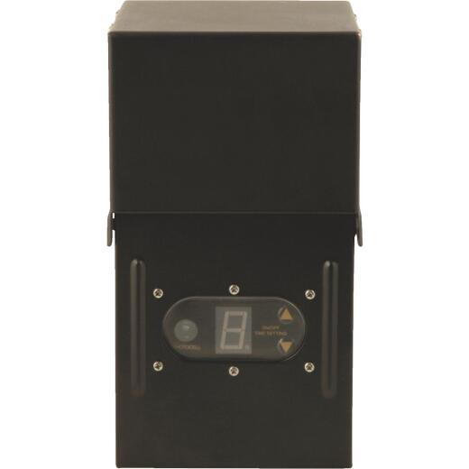 Moonrays 300W Black Low Voltage Control Box with Digital Photocell
