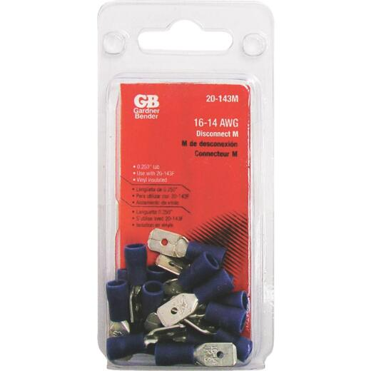 Gardner Bender 16 to 14 AWG Male Blue Vinyl-Insulated Barrel Disconnect (18-Pack)