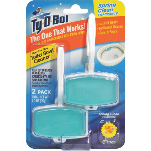 Ty-D-Bol Spring Clean Gel Automatic Toilet Bowl Cleaner (2-Count)