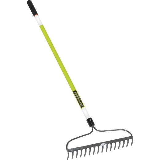 Structron S600 Safety 16 In. Steel Bow Garden Rake (16-Tine)