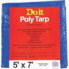 Do it Blue Woven 5 Ft. x 7 Ft. Medium Duty Poly Tarp Image 1