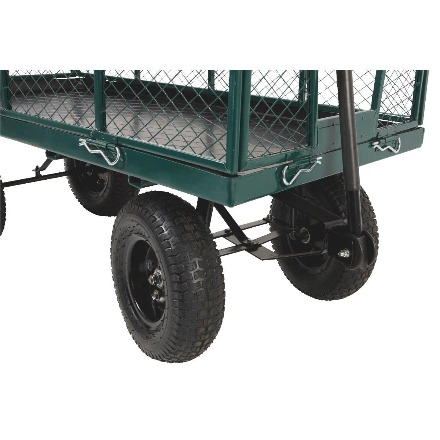 Best Garden 1000 Lb. Steel Garden Cart with Collapsible Sides Image 8