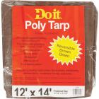 Do it Green/Brown Woven 12 Ft. x 14 Ft. Medium Duty Poly Tarp Image 1