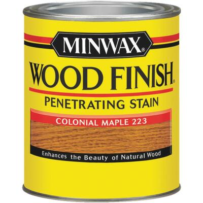 Minwax Wood Finish Penetrating Stain, Colonial Maple, 1/2 Pt.