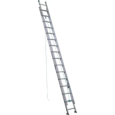 Werner 32 Ft. Aluminum Extension Ladder with 225 Lb. Load Capacity Type II Duty Rating