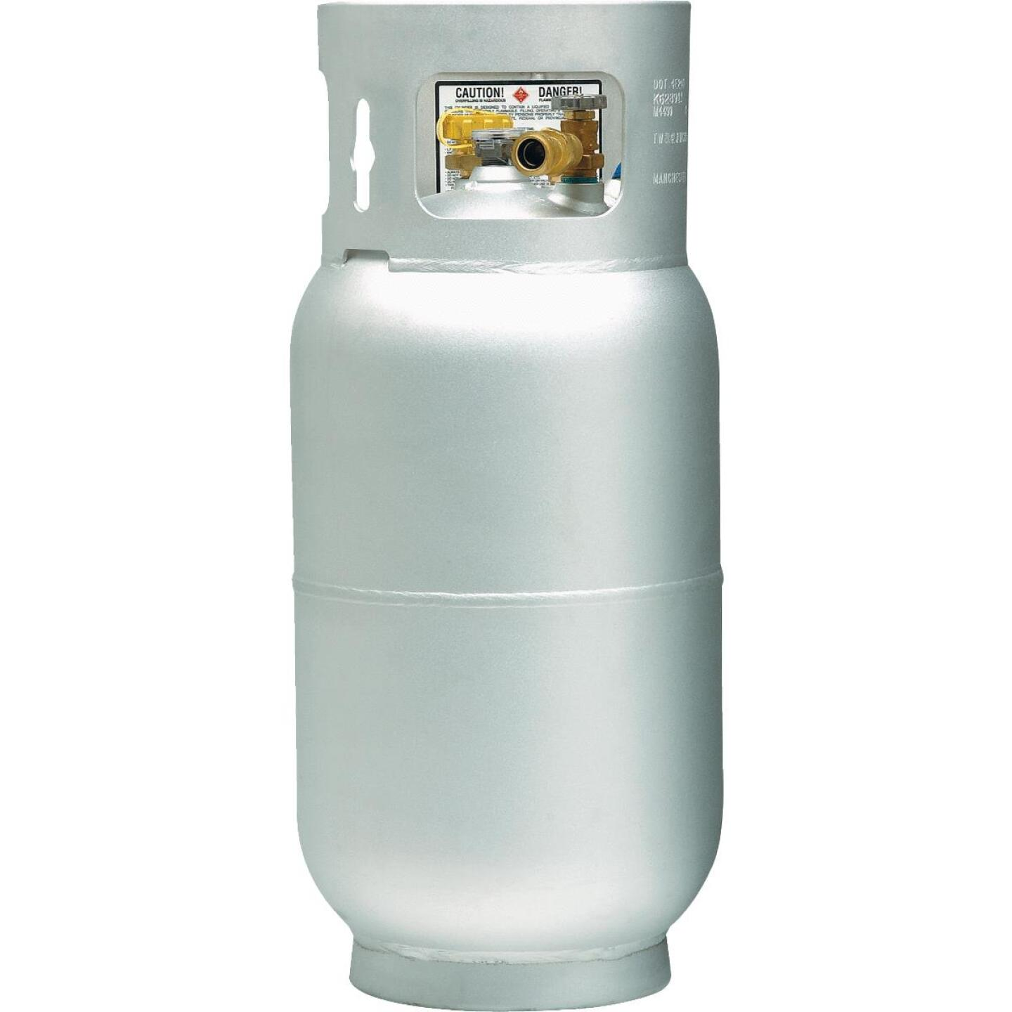 Manchester Tank and Equipment 33.5 Lb. Capacity Aluminum DOT Forklift LP Propane Cylinder Image 1
