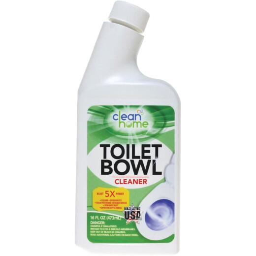 Clean Home 16 oz Liquid Chlorine Toilet Bowl Cleaner